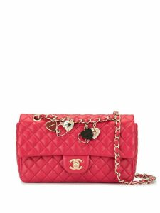 Chanel Pre-Owned Valentine double chain shoulder bag - Red