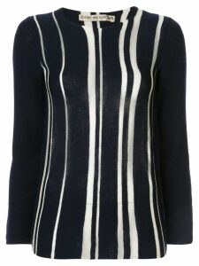 COMME DES GARÇONS PRE-OWNED knitted striped blouse - Blue