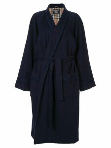 Burberry Pre-Owned robe-style tie-waist coat - Blue