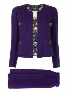 Chanel Pre-Owned setup suit jacket skirt - Purple