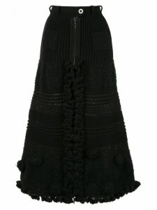 Chanel Pre-Owned CC logos skirt - Black