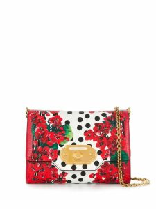Dolce & Gabbana floral print crossbody bag - Red
