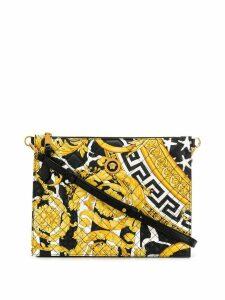 Versace Baroque print shoulder bag - Black