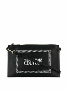 Versace Jeans logo print clutch bag - Black