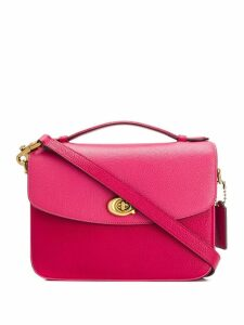 Coach textured shoulder bag - Pink