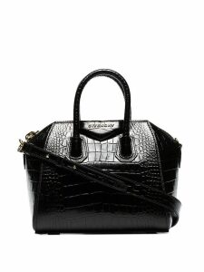 Givenchy mini Antigona croc-effect tote - Black
