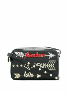 Red Valentino RED(V) Freedom, Dream, Love crossbody bag - Black