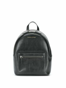 Brunello Cucinelli logo zipped backpack - Black