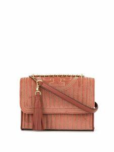 Tory Burch velvet quilted shoulder bag - Pink