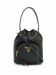 Prada Saffiano leather bucket bag - Black