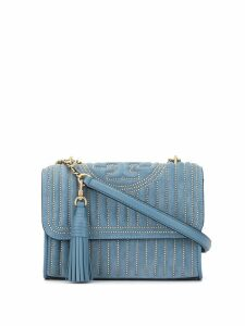 Tory Burch studed quilted shoulder bag - Blue