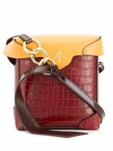 Manu Atelier mini Pristine box bag - Red
