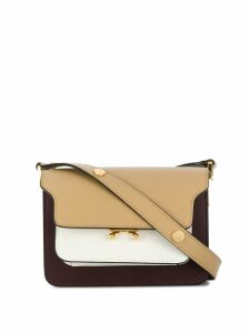 Marni mini tri-tone Trunk bag - Brown