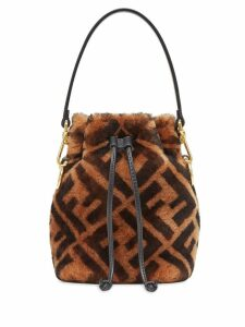 Fendi mini Mon Tresor bucket bag - Brown