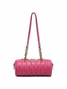 Miu Miu cylinder matelassé shoulder bag - Pink