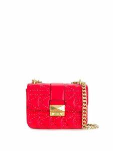 Karl Lagerfeld studded shoulder bag - Red