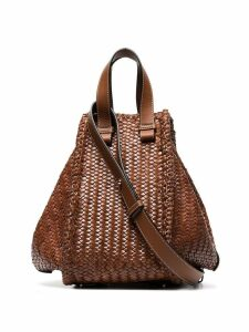 Loewe medium Hammock woven shoulder bag - Brown