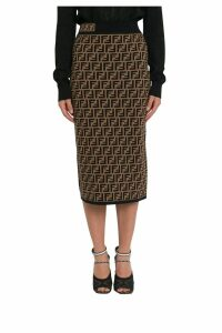 Fendi Ff Knit Midi Skirt