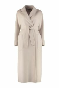 S Max Mara Here is The Cube Algeri Wool Long Coat