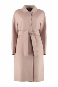 S Max Mara Here is The Cube Doraci Wool Long Coat