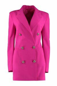 The Attico Embellished Button Blazer Dress