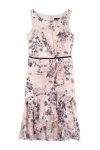 Marchesa Notte Floral Print Dress