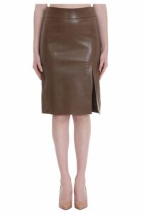 DROMe Skirt In Green Leather