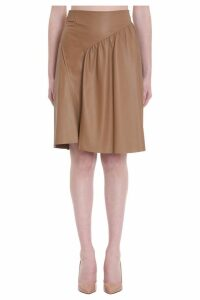 DROMe Skirt In Leather Color Leather