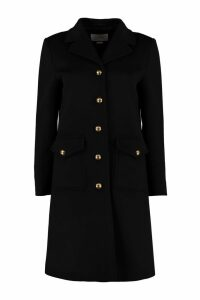 Gucci Metal Buttons Wool Coat