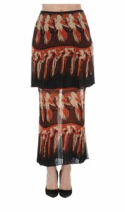 Fendi Parrot Motif Layered Skirt