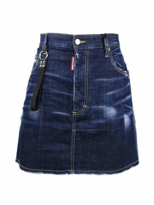 Dsquared2 Blue Denim Cotton Skirt