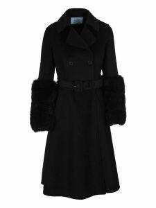 Prada A-line Belted Coat