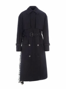 Msgm Sequin Trench Coat
