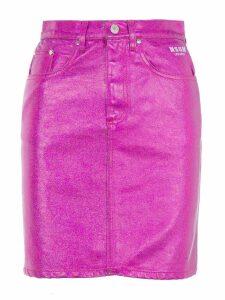 Msgm Metallic Mini Skirt