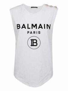 Balmain 3 Btn Logo Tank Top