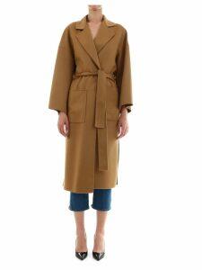 Loewe Oversize Belted Coat Camel