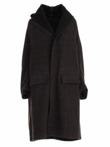 Ys Coat Single Breasted W/hood