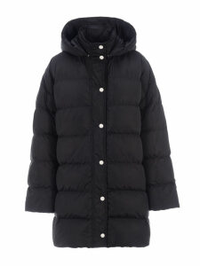 Msgm Logo Print Down Coat