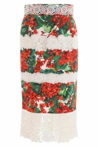 Dolce & Gabbana Portofino Skirt With Lace