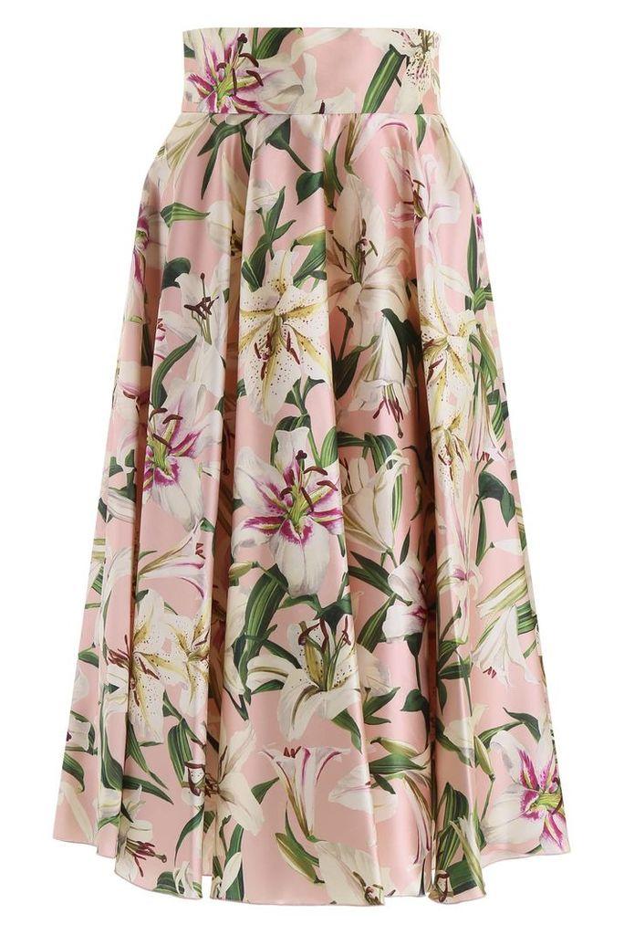 Dolce & Gabbana Lily Print Skirt