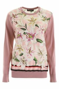 Dolce & Gabbana Pullover With Silk Inserts