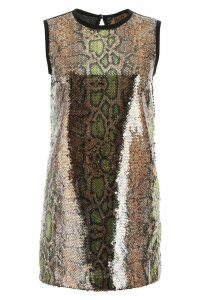 N.21 Animalier Sequins Mini Dress