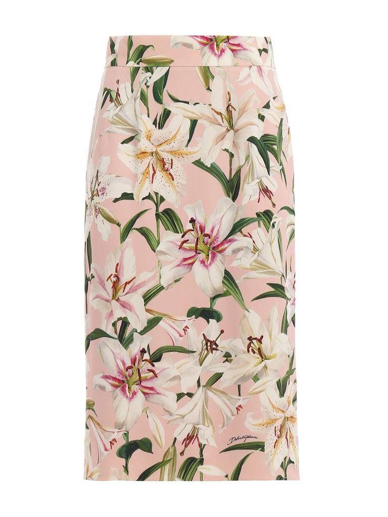 Dolce & Gabbana Printed Gigli Skirt