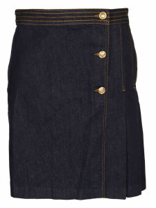 Tory Burch Wrap Denim Skirt