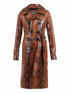 Dsquared2 Snakeskin Print Trench Coat