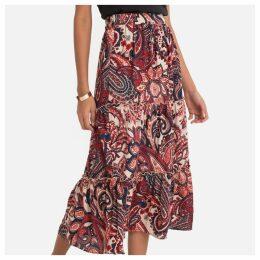 Printed Flared Skirt
