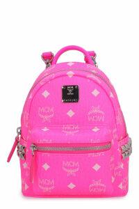 MCM Stark Neon Visetos Mini-backpack With Studs