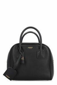 Burberry Cube Leather Boston Bag