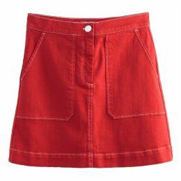 Double Patch Pocket A-Line Mini Skirt