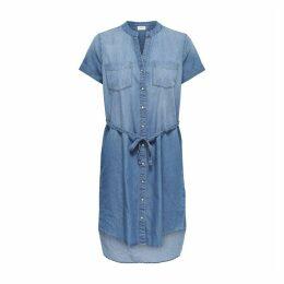 Jdyshinest Denim Shirt Dress with Tie-Waist